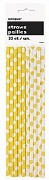 Yellow Dots Drinking Straws