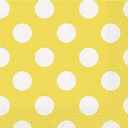 Yellow Dots Paper Napkins