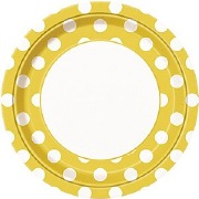 Yellow Dots Plates