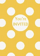 Yellow Dots Party Invitations