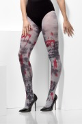 Zombie Grey Blood Stain Tights