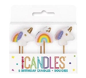 Unicorn Birthday Candles