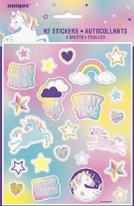 Unicorn Party Stickers