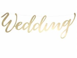Wedding Gold Banner