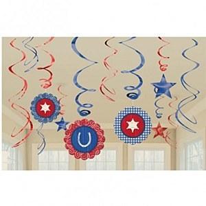 Western Party Swirl Decoration