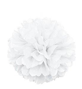 White Puff Ball Decoration