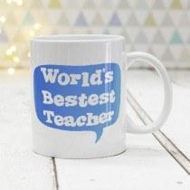 Bestest Teacher Blue Mug