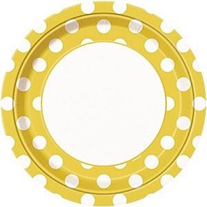Yellow Dots Plates