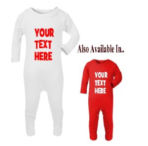 Your Text Here Red Romper