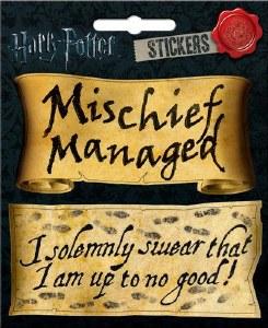 HP Mischief Managed 2 Pc Sticker Set