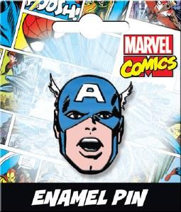 Captain America Head Enamel Pin