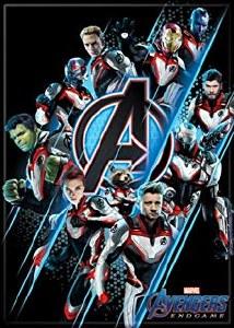 Avengers Endgame Group on Black Magnet