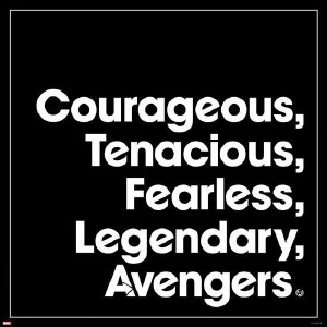 Courageous Avengers Magnet