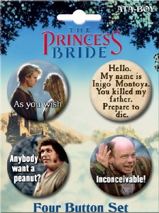 Princess Bride Round Button Set 1