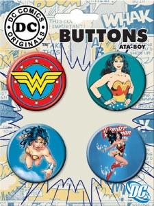 DC Wonder Woman 4 Button Set