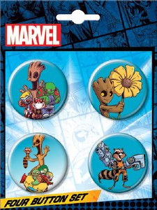 GOG Groot Skottie Young Button 4 Pack