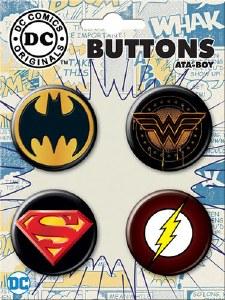 DC Dark Logo Button Set