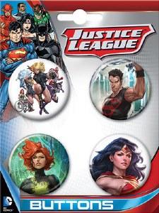 DC Comics Art Germ 4 Button Set