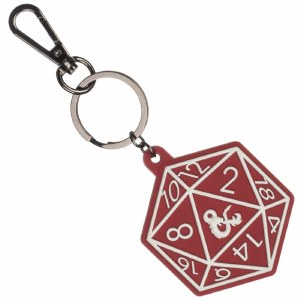 Dungeons and Dragons 20 Sided Die Keychain