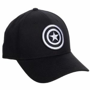 Captain America Embroidered Symbol Flex Fit Hat