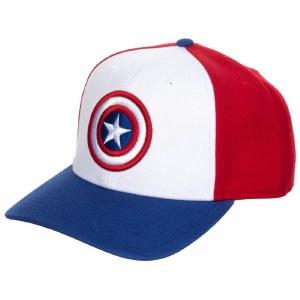Captain America Tricolor Snapback Hat