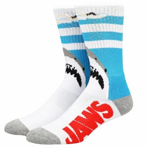 Jaws Poster Crew Socks