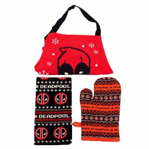 Deadpool Kitchen Set- Apron/Mitt/Dish Towel