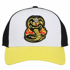 Cobra Kai No Mercy Embroidered Curved Bill Snapback Hat