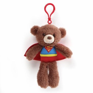 "DC Comics Fuzzy Superman Bear 6.5"" Backpack Clip"