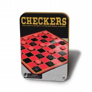 Checkers Set 12-inch Tin