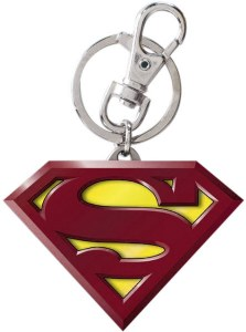DC Superman Logo Color Pewter Keyring