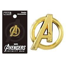 Avengers Infinity War Gold Logo Pewter Lapel Pin