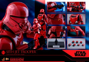 Hot Toys Star Wars The Rise of Skywalker Sith Jet Trooper 1/6 Scale Action Figure