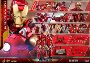 Hot Toys Avengers Iron Man Mark VII 1/6 Die-Cast Action Figure