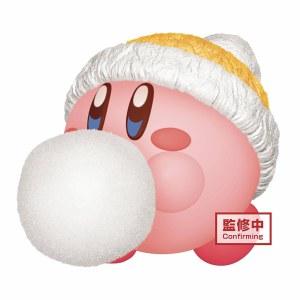 Kirby Fluffy Puffy Mine Play in the Snow Kirby Figurine