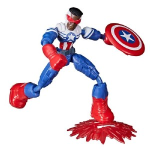 Avengers Bend and Flex Captain America Sam Wilson Action Figure