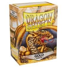 Dragon Shield Matte Gold Sleeves 100 ct
