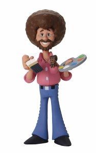Bob Ross The Joy of Painting Bob Ross and Peapod Animated Style Action Figure