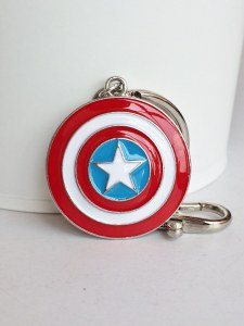 Captain America Enamel Keychain