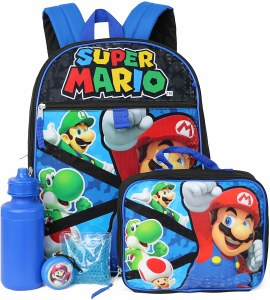 Super Mario 5-Piece Backpack Set