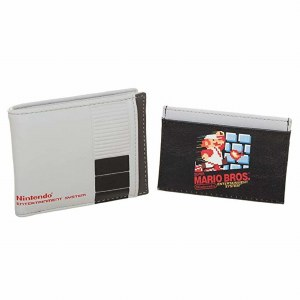NES 2 In 1 Bi-Fold Wallet with Mario Card Wallet