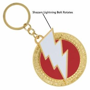 Shazam! Spinning Keychain