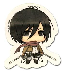Attack On Titan SD Mikasa Sticker