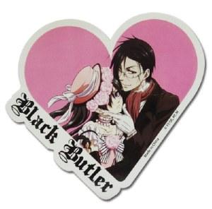 Black Butler Ciel Sebastian Heart Sticker