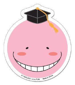 Assassination Classroom Pink Koro Sensei Sticker