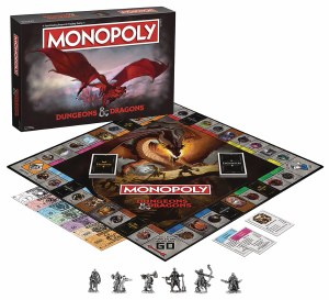 Dungeons and Dragons Monopoly Board Game