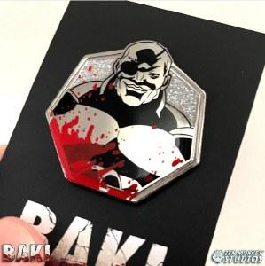 Baki Silver Doppo Orochi Enamel Pin