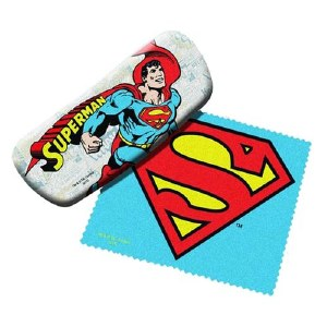 Superman Eyeglass Case with Cleaning Cloth