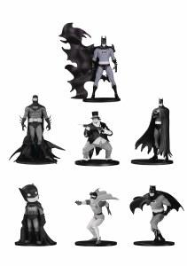 Batman Black and White Mini PVC Figure 7 Pack Set 4