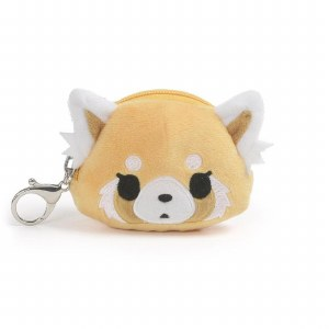 Aggretsuko Face Pouch Keychain